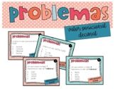 Decimal Place Value Task Cards Spanish Tarjetas valor posi