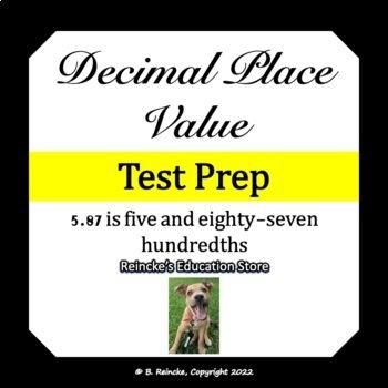 Decimal Place Value Test Prep