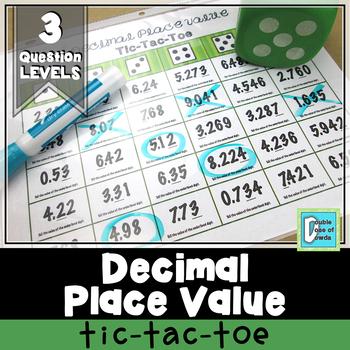 Decimal Place Value Tic-Tac-Toe Game