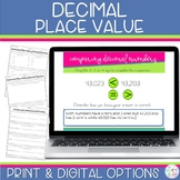 Decimal Place Value Worksheets and Google Slides Activitie