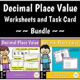 Decimal Place Value Worksheets and Task Card Bundle