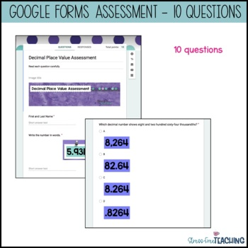 Decimal Place Value for Google Classroom