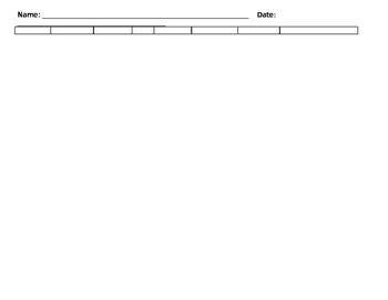 Decimal Place Value mat