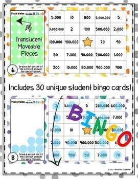 Place Value to the Millions Digital Bingo