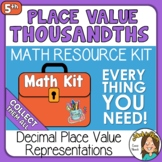 Decimal Place Value to the Thousandths Place 5th Grade wit