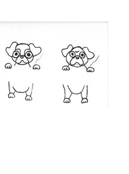 Decimal Place value visual guide and signs colored and blank PUGS