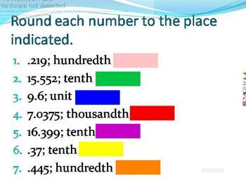 Decimal Places and Rounding Decimals