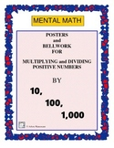 Decimal Posters and Bell Work: Multiplying and Dividing by Powers of 10
