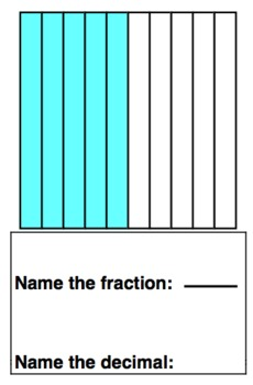 Decimal Practice Cards and Worksheets