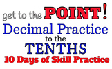 Decimal Practice to the Tenths: practice adding, rounding, number lines