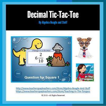 Decimal Pre-Historic PowerPoint Tic-Tac-Toe Game