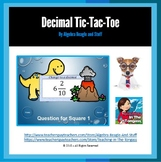 Decimal Pre-Historic PowerPoint Tic-Tac-Toe Game