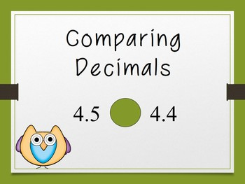 Decimal Presentation: Compare, Order, Expanded Notation, & Decimals as Fractions