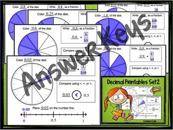 Decimal Place Value Set 2: using Models, Symbols, and Number Line