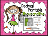 Decimal Place Value Thousandths