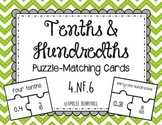 Decimal Puzzle-Matching Cards (Tenths and Hundredths)