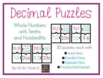 Decimal Puzzles!
