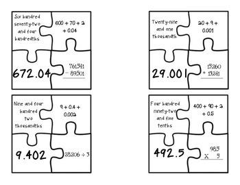 Decimal Puzzles
