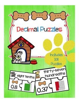 Decimal Puzzles (3 puzzle pieces)