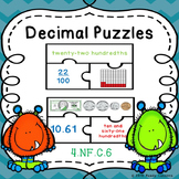 Decimals Game Puzzles 4.NF.6