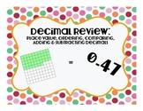 Decimal QR Code Task Cards