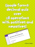Decimal Quiz - All operations with positives and negatives