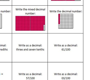 Decimal Review Activities and Games