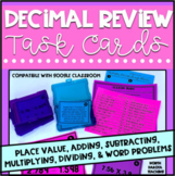 Decimal Review Activity Task Cards | Google Classroom™  Di