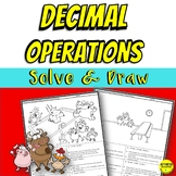 Decimal Operations Coloring Activity