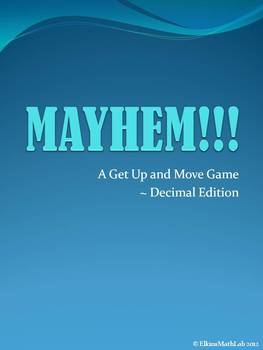 Decimal Review All Operations ~ A Get Up and Move Game!