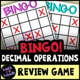 Decimal Operations Bingo - Math Review Game