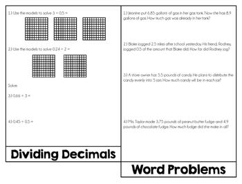Decimal Review {Flip Book}