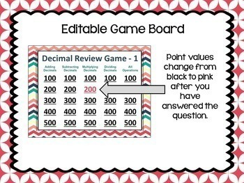 Decimal Game Bundle (2 review games similar to Jeopardy)