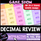 Decimal Math Game Show - Interactive Math Review Game
