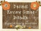 Decimal Review Task Cards and Games Bundle