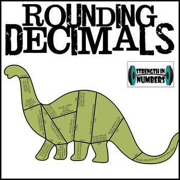 Decimal Rounding Cooperative Dinosaur Puzzle for Display