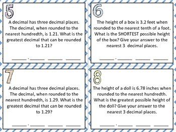 Decimal Rounding Riddles