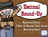 Decimal Round-Up Decimal Rounding Task Card and Game for U