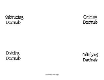 Decimal Rules Foldable