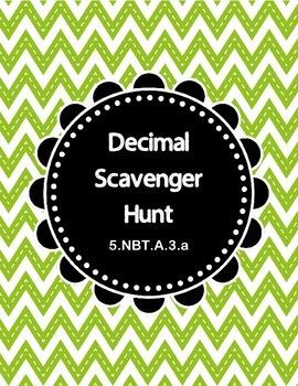 Decimal Scavenger Hunt    5.NBT.A.3