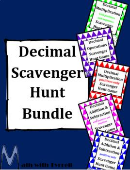 Decimal Scavenger Hunt Bundle