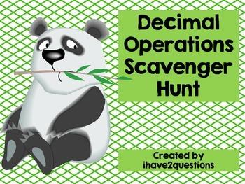 Decimal Operations Scavenger Hunt #christmasinjuly