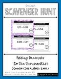 Decimal Scavenger Hunt Set #1: Adding Decimals (5.NBT.B.7)