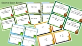 Decimal Scoot Activity/Task Card Bundle