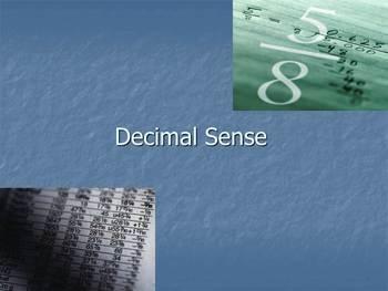 Decimal Sense Quick Assessment