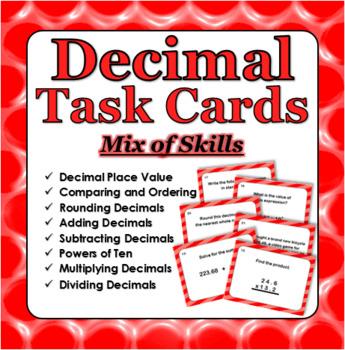 Decimal Skills Task Cards