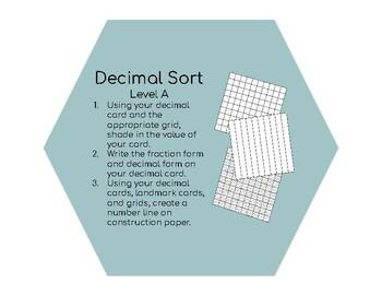Decimal Sort Activity