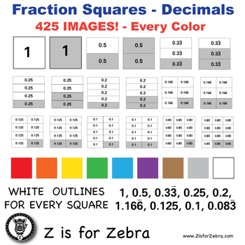Decimal Square Clip Art 425 Images - Commercial Use OK! Zi