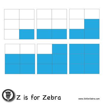 Blank Fraction Square Clip Art 425 Images - Commercial Use OK! ZisforZebra