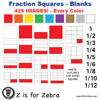 Blank Fraction Square Clip Art 425 Images - Commercial Use